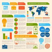Elementos de infográfico de negócios vetor