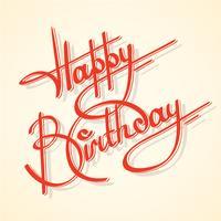 Feliz aniversario da caligrafia vetor