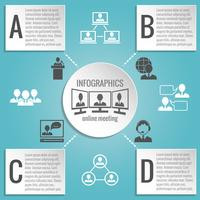 Pessoas negócio, reunião, infographics