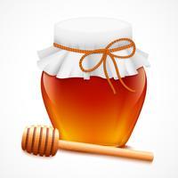 Pote de mel com emblema de dipper vetor
