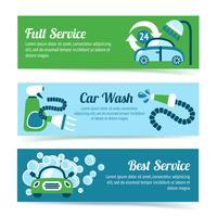 Banners de lavagem de carro vetor