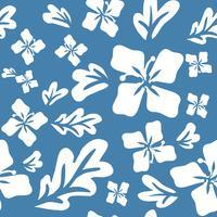 Padrão sem emenda de flores de verão tropical vetor