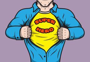 Super-herói de quadrinhos mascarado vetor