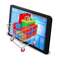 Conceito de compras na Internet vetor
