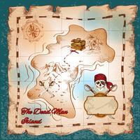 Mapa do tesouro de piratas