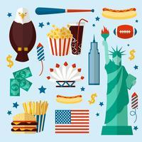 Conjunto de Nova York EUA vetor