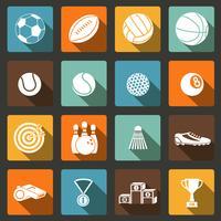 Conjunto de ícones de esportes vetor