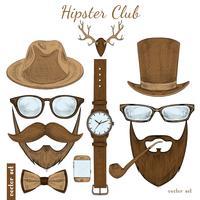 Acessórios de clube hipster vintage