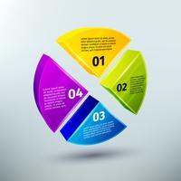 Elementos de design de infográficos de negócio abstrato