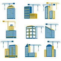 Ícones da construção civil vetor