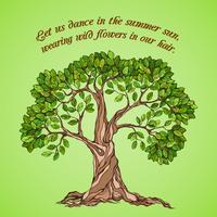 Cartaz de árvore de verão