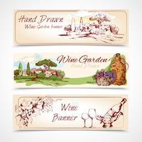 Conjunto de bandeiras de vinho