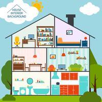 Fundo interior de casa