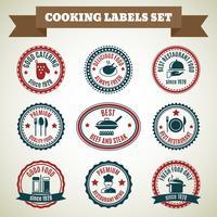 Cozinhar rótulos de chef