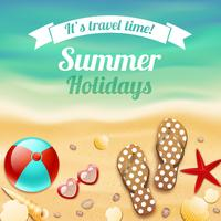 Fundo de viagens de férias de férias de verão