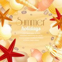 Cartaz de viagens de férias de férias de verão vetor