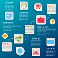 Opções de infográfico de negócios vetor