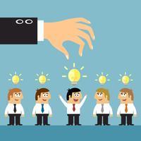 Conceito de seleção de ideias de negócio
