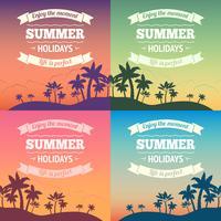Cartaz de férias de verão vetor