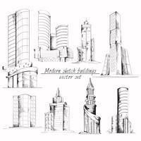 Edifício moderno esboço