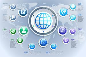 Elementos de infográficos de negócios papel abstrato