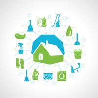 Conceito de limpeza da casa