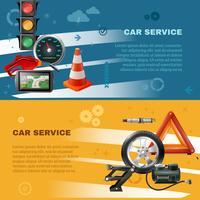 Banners horizontais de manutenção de carros vetor