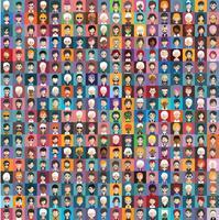 Avatares de pessoas com fundos coloridos vetor