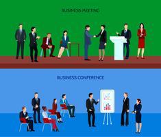 Banners horizontais de grupo de pessoas de negócios