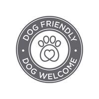 Cão amigável ícone vetor