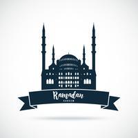 Ramadan Kareem. Sinal de mesquita. vetor