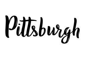Caligrafia de mão-rotulação de Pittsburgh. vetor