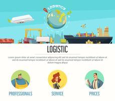 Design de página de logística vetor