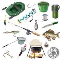 Conjunto de elementos de equipamento de pesca