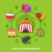 Conceito de entretenimento de circo vetor