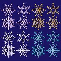 clipart de flocos de neve de glitter vetor