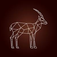 Ilustração poligonal de uma gazela.