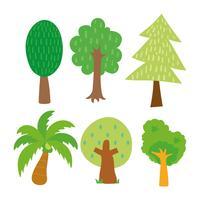 projeto de coleção de árvores vetor