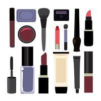 Design de coleção de elementos de cosméticos vetor