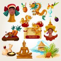 Conjunto turístico de Tailândia