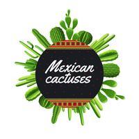 Ilustração de cacto mexicano