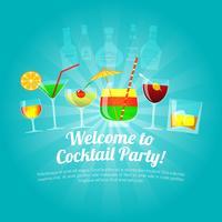 Ilustração plana de álcool