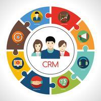 Ilustração do conceito de CRM vetor
