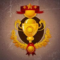Fundo dourado do troféu
