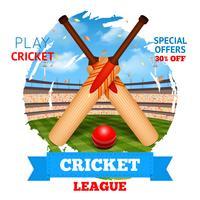 Ilustração do estádio de críquete vetor