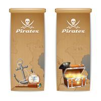 Vertical de banner de pirata