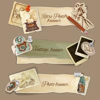 Banners de foto de papel vetor