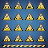 Conjunto de sinais de perigo