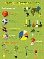 Conjunto de infográficos de esportes vetor