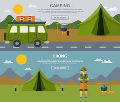 Conjunto de Banner de acampamento